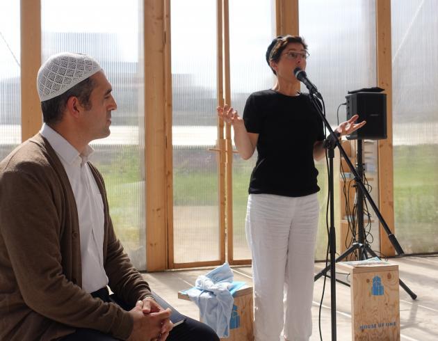 Imam Osman Örs und Kantorin Esther Hirsch